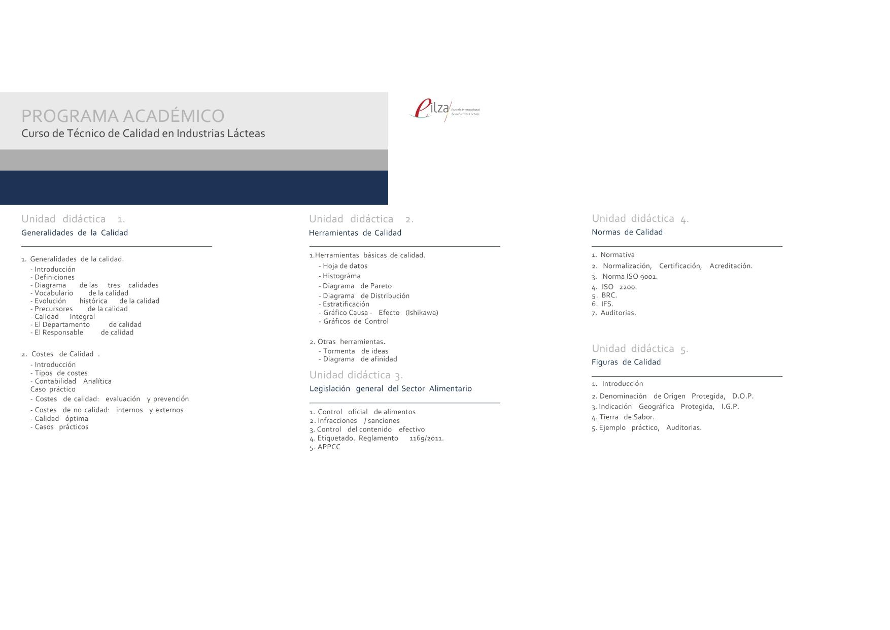 2ª Edición Curso De Técnico De Calidad En Industrias Lácteas