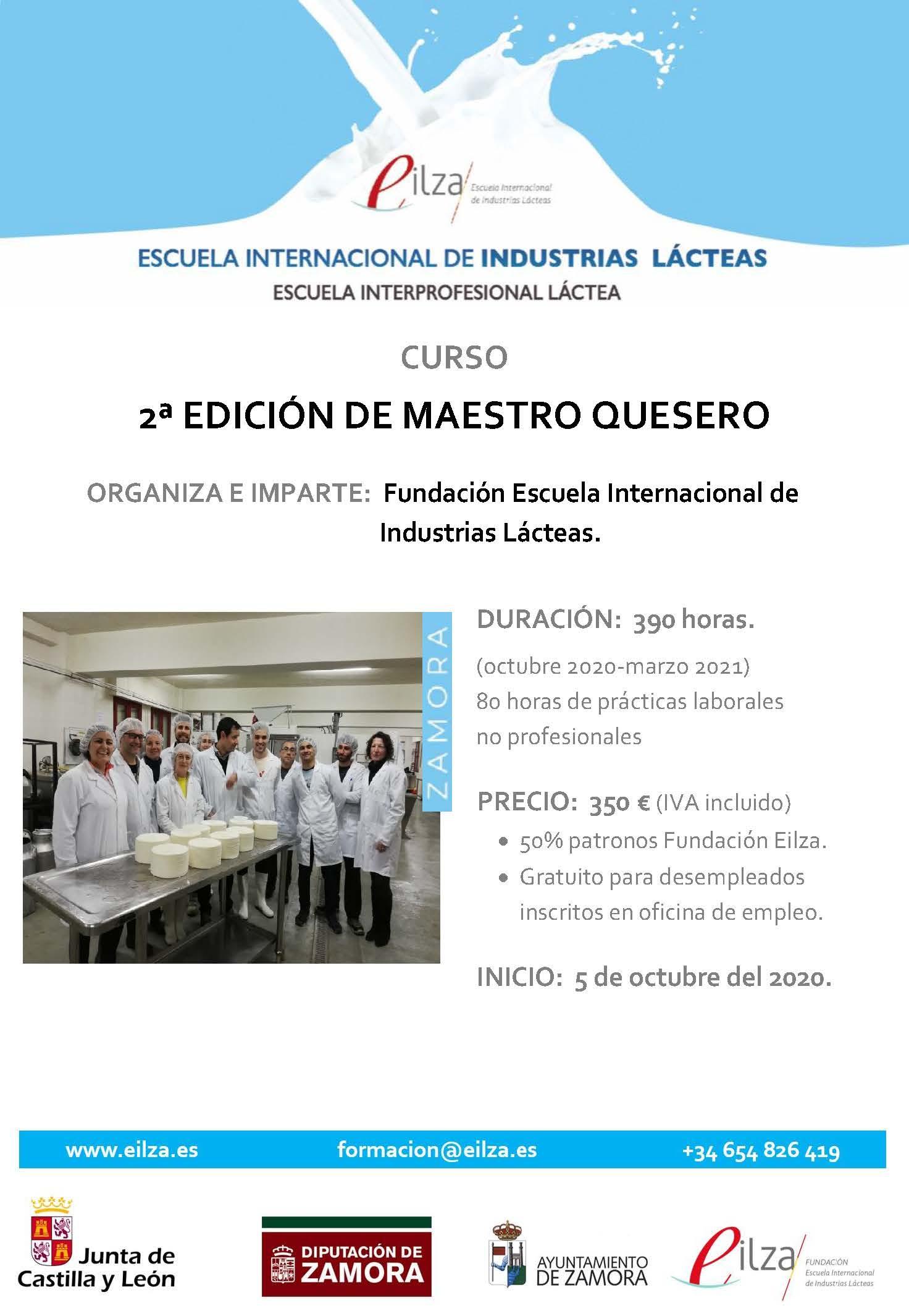 2ª Edición Curso de Maestro Quesero