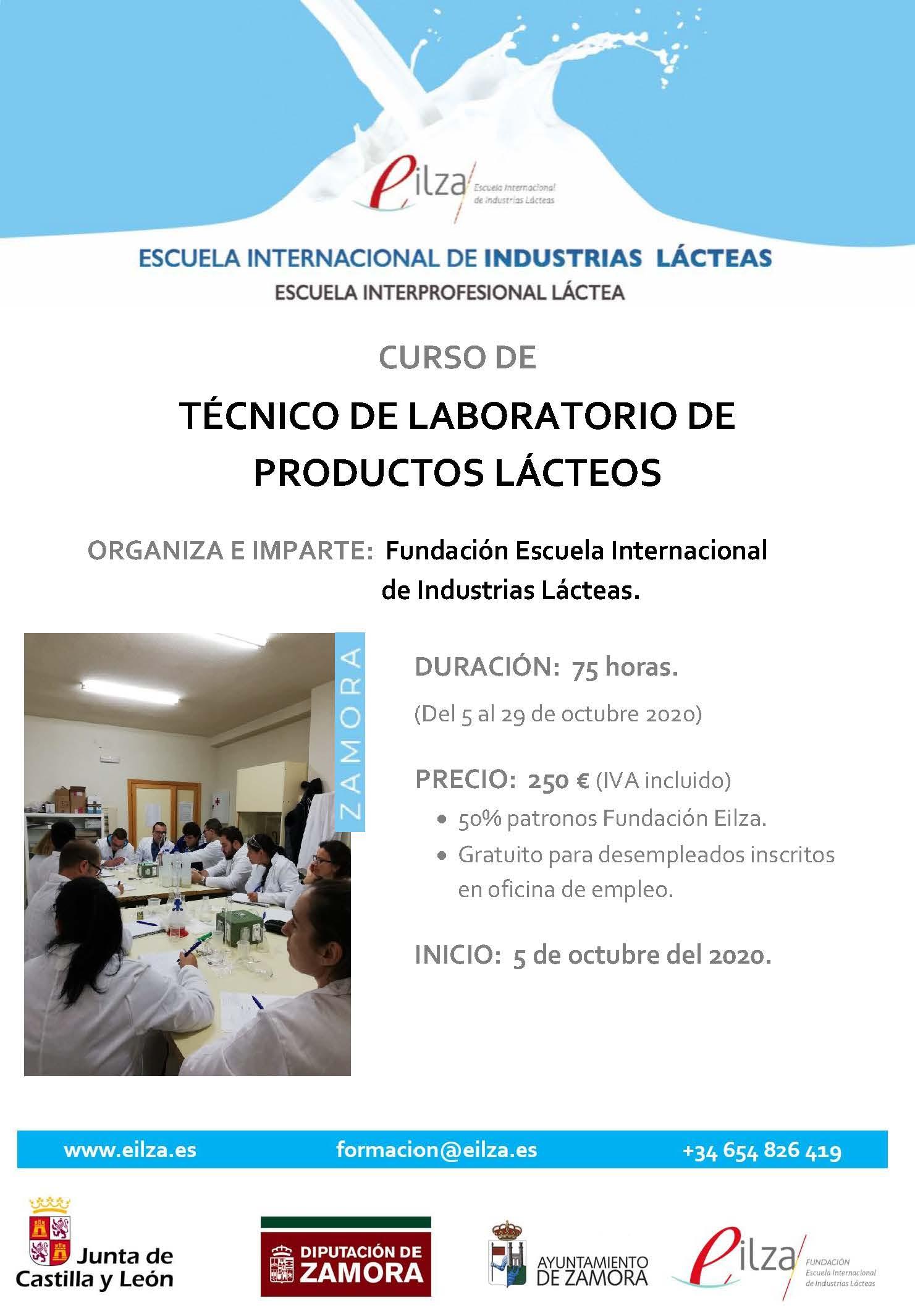 Curso de Técnico de Laboratorio de Productos Lácteos